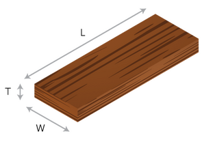Wide sheeting timber